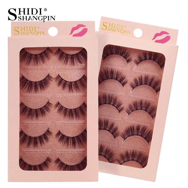 SHIDISHANGPIN 3d mink lashes hand made makeup false eyelash natural long false eyelashes 1 box makeup full strip lashes G900-904