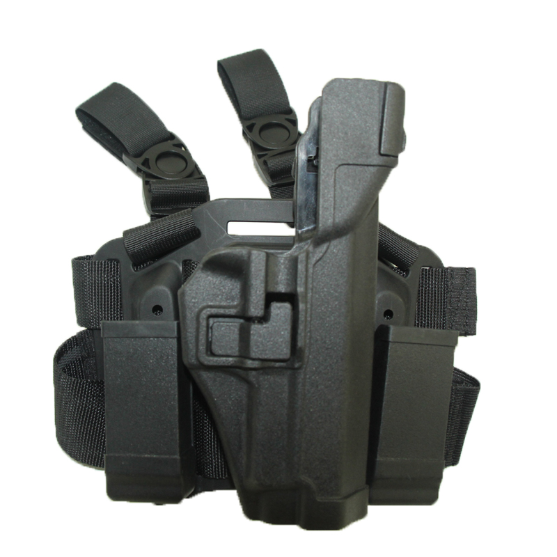 Black Thigh Leg Hunting Gun Holster Army Military CS Combat Tactical Holster Fit For SIG SAUER