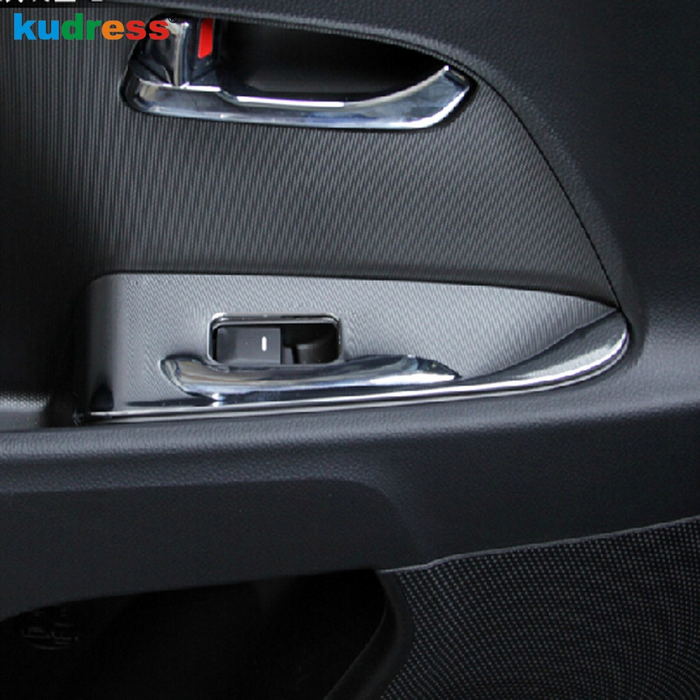 For Kia Sportage 2010 2011 2012 2013 2014 2015 ABS Matte Interior Side Door Armrest Window Switch Panel Cover Trim Left hand silver matte chrome interior gear shifter panel cover trim for mitsubishi asx outlander sport at 2013 2014 2015 2016