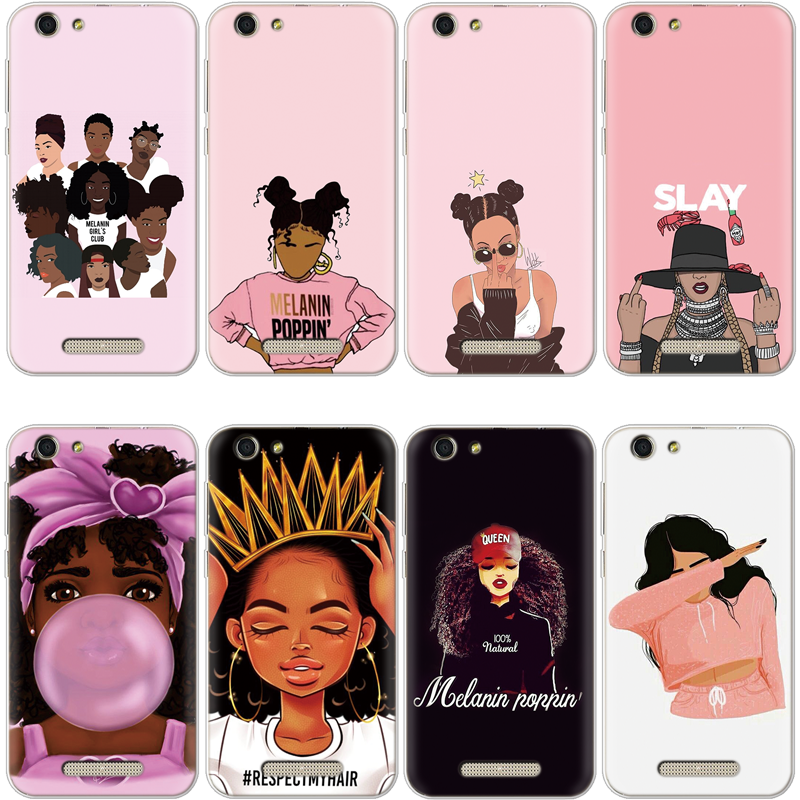 2Bunz Melanin Poppin Aba Cover For TPU Iphone XS Max X XR 5 SE 6 S 8 7 Plus For Cubot R11 X18 X18 Plus Note S J3 Black Girl Case