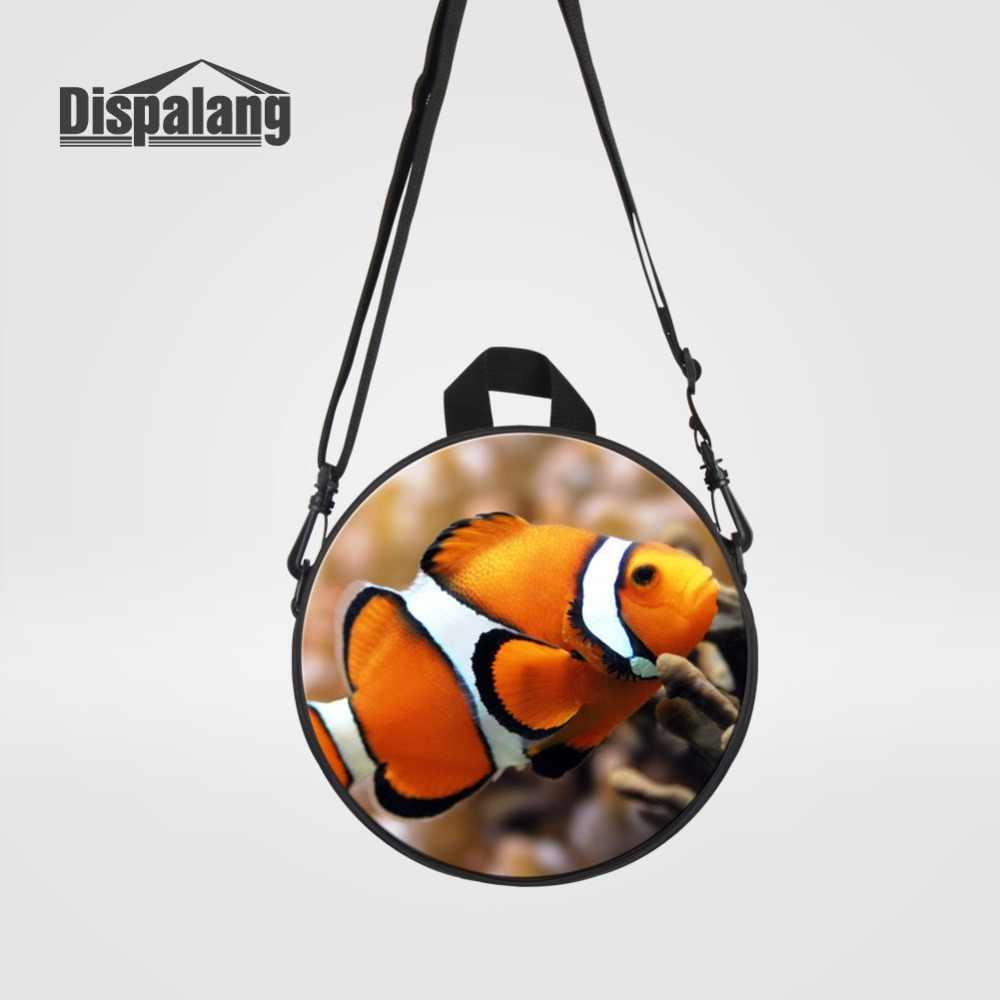 Животное рыба амфиприон Nigripes попугай желтовато-Красного цвета сумка-почтальон мини для Детский рюкзак Детский сад через плечо сумка