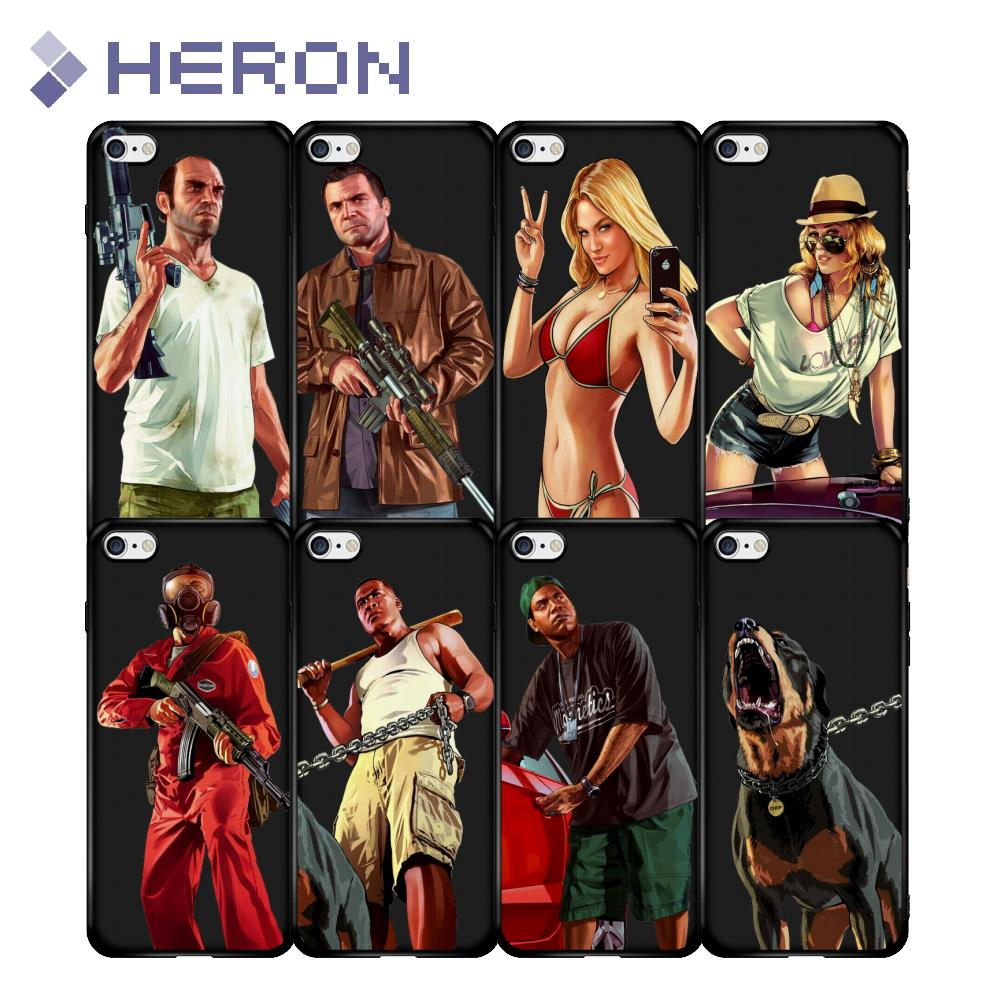 Super Thin Matt Soft Case For iPhone 5 5s SE 6 6s Plus 6+ i7 7+ i8 i8+ X iX GTA V 5 Grand Theft Auto Dog Full Fit Back Cover ...