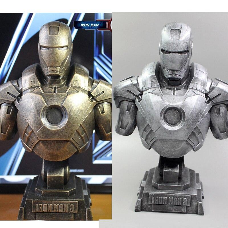все цены на 1/4 The Avengers Iron Man Alltronic Era Resin Bust Model MK7 Decoration Statue онлайн