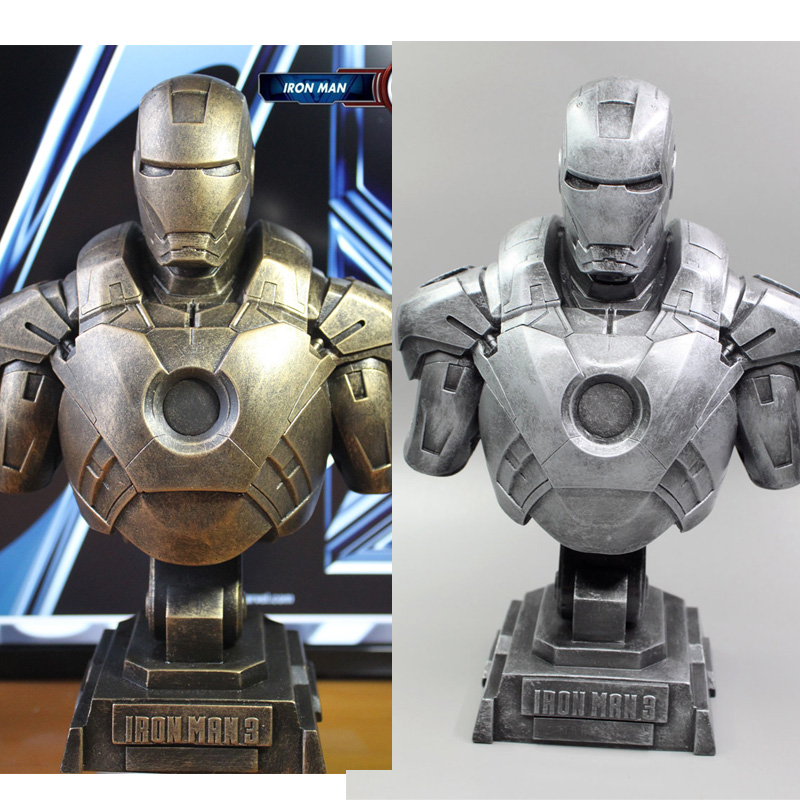 1/4 The Avengers Iron Man Alltronic Era Resin Bust Model MK7 Decoration Statue