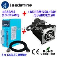 Leadshine AC 220V Servo Drive H2 2206 Updated from Old Servo Drive HBS2206 PLUS AC Servo Motor 1103HBM120H 1000 12 Nm