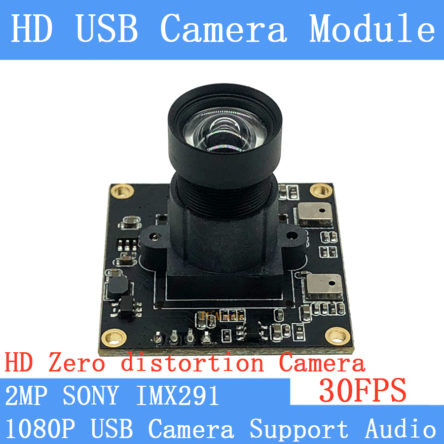 CCTV Non Distortion <font><b>camera</b></font> Star Light Low illumination Sony <font><b>IMX291</b></font> 2MP Full HD 1080P Webcam UVC USB <font><b>Camera</b></font> <font><b>Module</b></font> Support audio image
