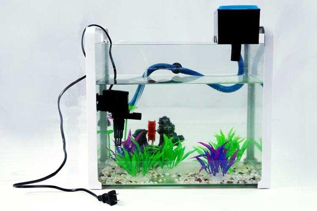Fabulous Top filter kit für länge 40 60 cm aquarium pumpe 12 w 800L/h QU67