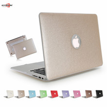 for macbook case new silk pattern air pro retina 11 12 13 15 hard pc full protect matte hole can see logo+ us keyboard cover