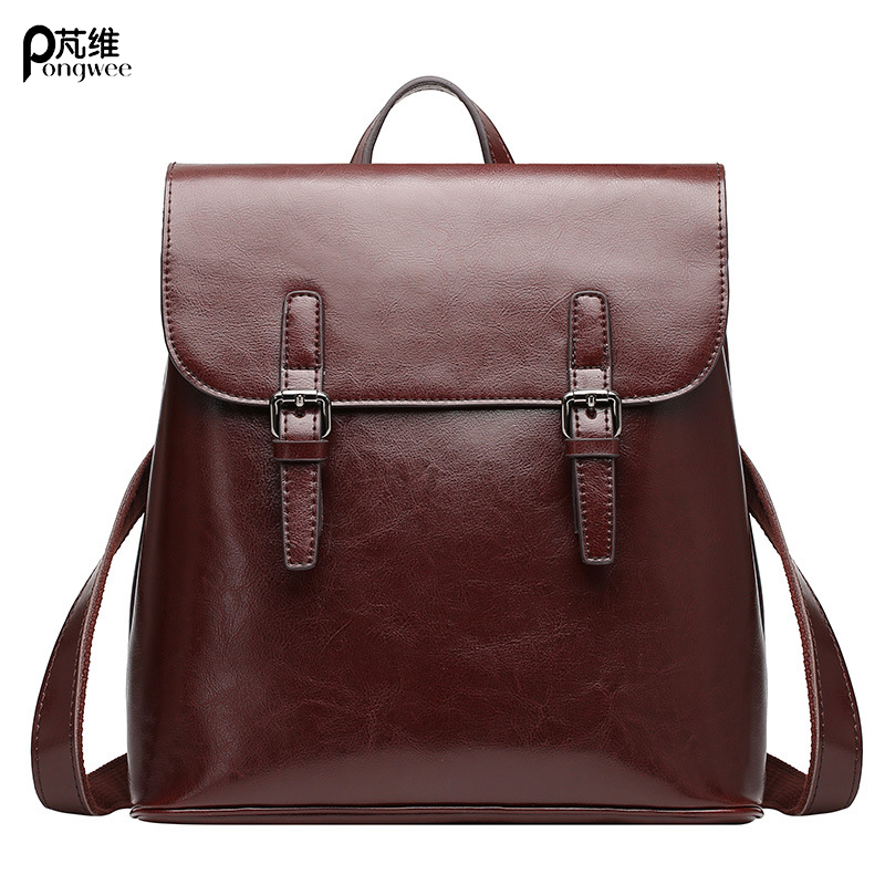 Lady Genuine Leather Backpack Female Fashion Style Backpack Young Girl Casual Shoulder Bag Fashion Multifunctional Travel Bags
