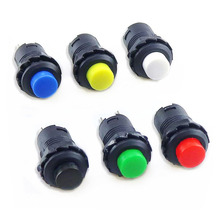 1Pcs Self locking button DS-228 DS228 12mm  Lock Latching OFF- ON Push Button Switch maintained pushbutton switches