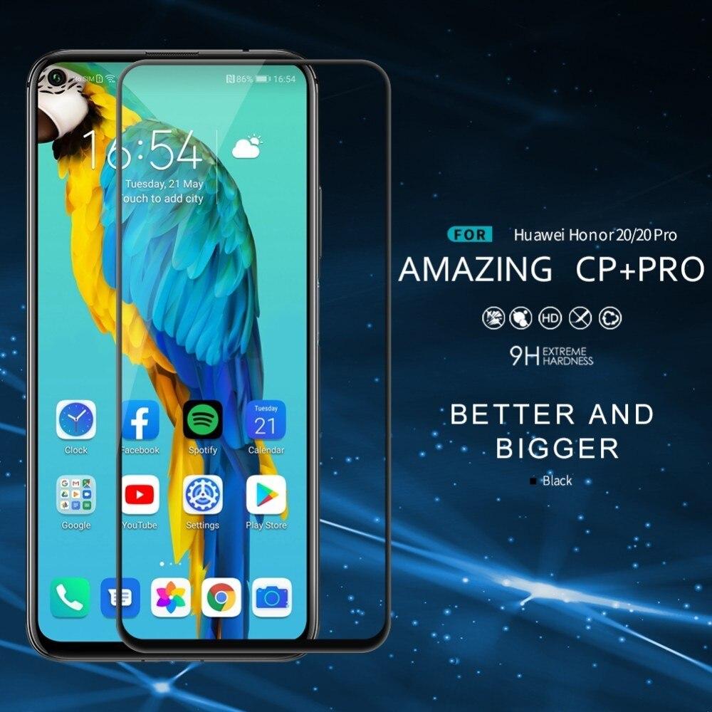 Защитное стекло NILLKIN для Huawei Nova 5T Honor 20 20s Pro, закаленное стекло CP + Pro с полным покрытием, пленка с защитой от трещин