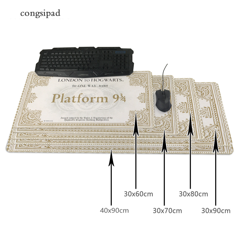 Plataforma 9 3 4s Para mouse pad Large Size mousepad laptop Notbook computer gaming mouse pad gamer play ma