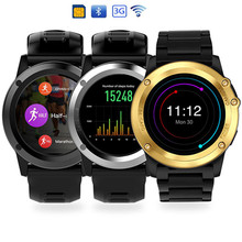 3G smartwatch H1 Android 4.4 MTK6572 Waterproof 1.39 inch Wifi GPS SIM For iPhone Smartwatch Men Wearable Devices