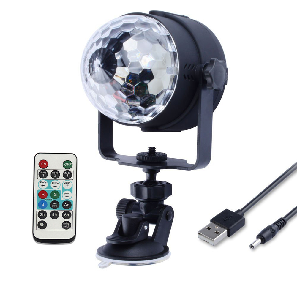 USB 5V 6 Colors Disco Ball car Light Sound Activated Rotating Party Lights with Remote Control Strobe Stage Light for Birthday USB 5V 6 Colors Disco Ball car Light Sound Activated Rotating Party Lights with Remote Control Strobe Stage Light for Birthday