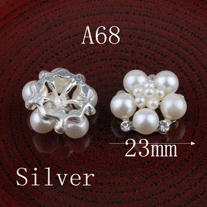 Image 2 - 120pcs/lot 23mm Clear Alloy Crystal Flatback Buttons for Kids Girls Hair Accessories/Ornaments Bling Metal Rhinestone Buttons