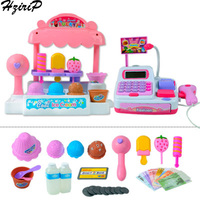 HziriP Ice Cream Shop Simulation Cash Register Pretend Play Toys Children Early Learning Toy Set Toys For Birthday Gift Toy