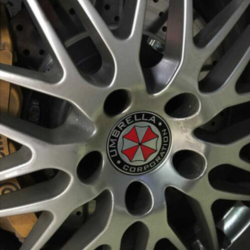 3D aluminium biohazard paraplu auto sticker VOOR Mercedes-Benz ABCES G M ML GLK CL CLK CLS E GL R SL SLK SLS-klasse AMG
