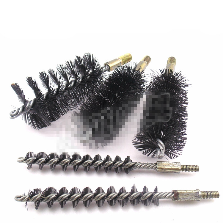 1PCS 10/12/14/16/18/20/25/30/32/35/38/40/43/45/50mm Diameter Stainless Steel Round Wire Tube Pipe Cleaning Brush 12mm 6mm Thread