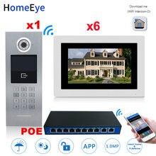 7 ''720 p wifi ip видео дверной телефон звонок 6 этажей