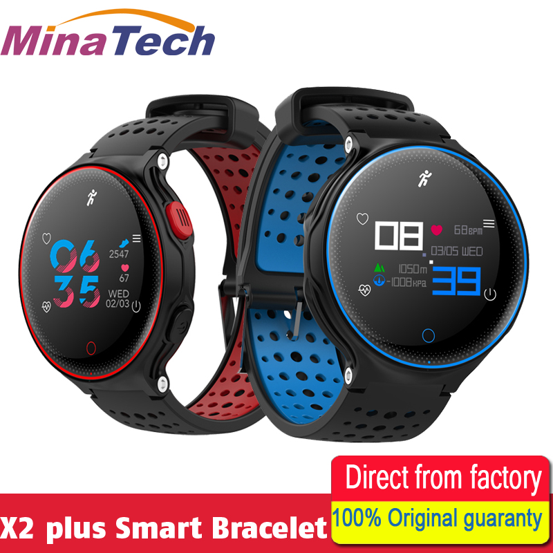 X2 plus Sport Bluetooth Color Screen Smart Bracelet Blood Pressure Heart Rate Monitor Fitness Tracker Wristband id118 plus smart wristband fitness