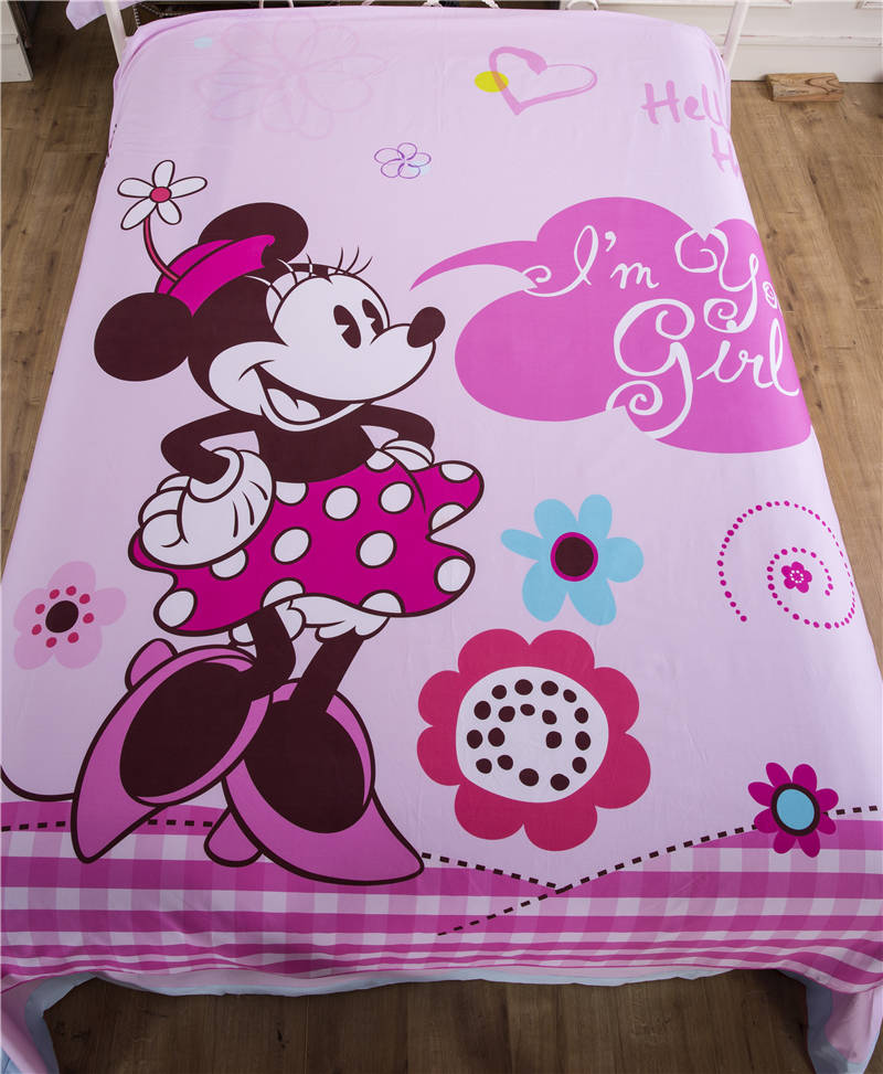 Pink Minnie Mouse Bedding Sets For Girl 39 S Bedroom Decor Cartoon Bedclothes Cotton Duvet Covers