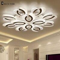 Rings Led Ceiling Light For Living Room Foyer Bedroom Study Room Luminaires Acrylic Modern Led Chandelier