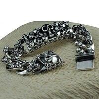 925 пробы серебряный браслет состояние Для мужчин t большой цепи Рождественские подарки Винтаж панк S925 одноцветное тайский серебряный брасл