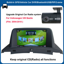 6.2 inch Capacitance Touch Screen car gps for VW Beetle+Car DVR+Android mobile phone and host interaction
