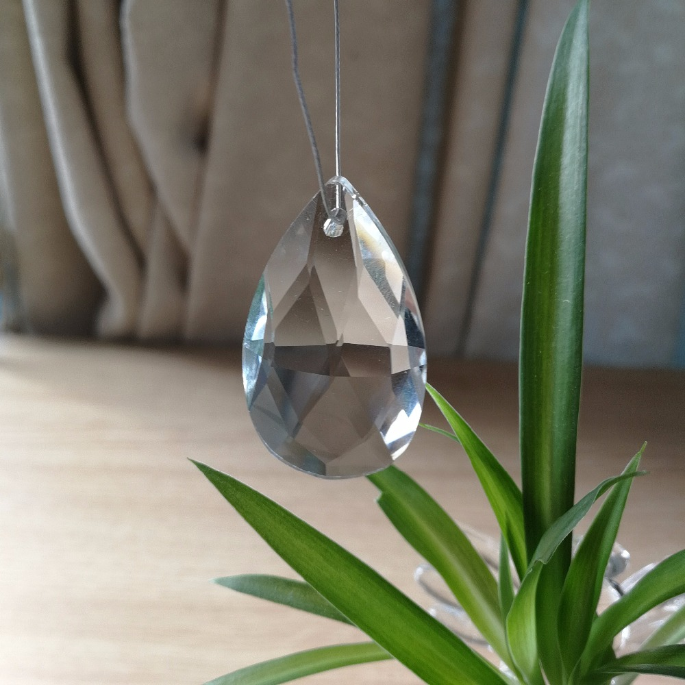 22mm 38mm 50mm 63mm Clear Glass Tear Drop Crystal Chandelier Parts K9 Glass Suncatcher Prism Hanging Trimming Pendants