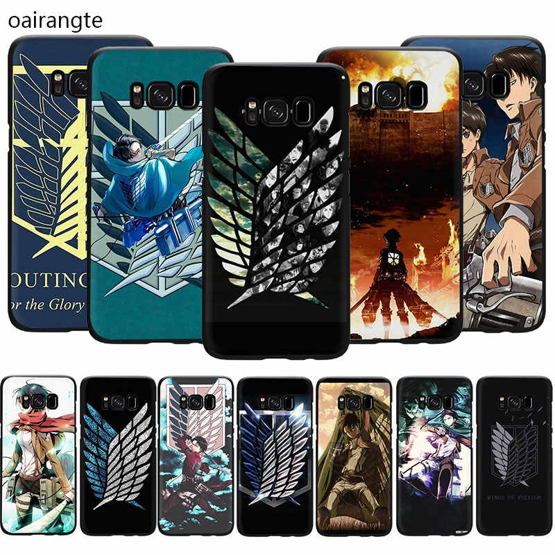 Anime Japanese attack on Titan Customer Soft Phone Cover Case For Samsung Galaxy M10 20 30 S6 7 Edge S8 9 10 Plus Note 10 8 9