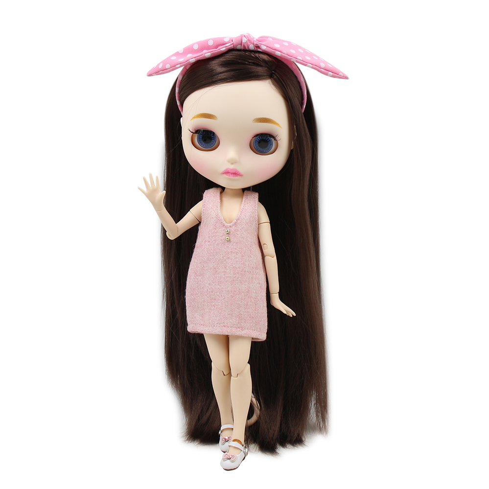 Blyth nude doll 30cm white skin Best selling super smooth long hair 1 6 JOINT body