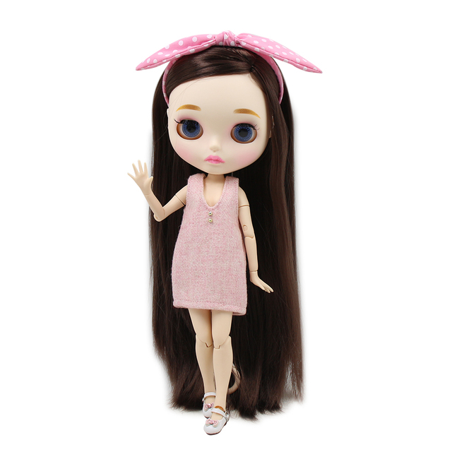 Blyth nude doll 30cm white skin Best selling super smooth long hair 1/6 JOINT body new matte face ICY DIY toy No.280BL0222