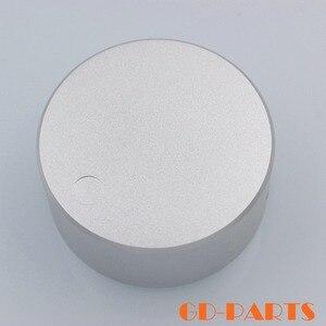 Image 4 - 1 PC robuste 48*22mm usiné plein aluminium Volume potentiomètre bouton capuchon pour Hifi DVD DAC CD platine amplificateur argent noir