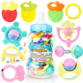 Brinquedos do bebê de Plástico brinquedo educativo para crianças mordedor aperto de mão Do Bebê Chocalhos Mobiles Jingle bell chocalho do bebê