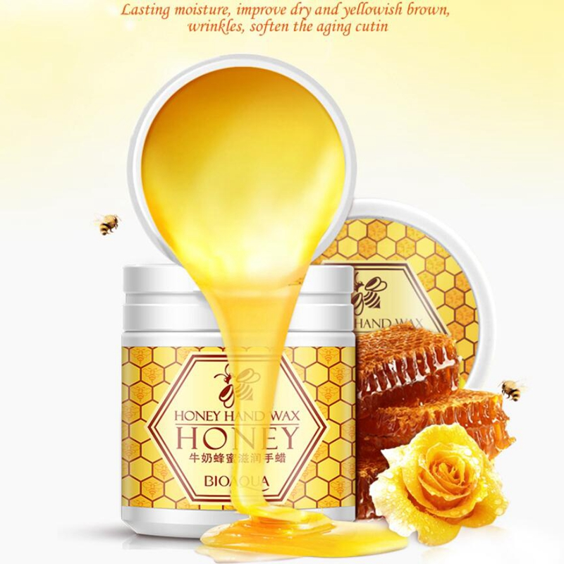 BIOAQUA Honey Hand Wax Milk Cream Paraffin Whitening Nourish Moisturizing Hydrating Remove Dead Skin Hand Care bioaqua exfoliante para pies