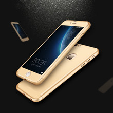 For iPhone 6 Luxury 360 Degree Full Body Protection Cases For iPhone 6S Plus Cover +Tempered Glass Matte UV Material Ultra Slim