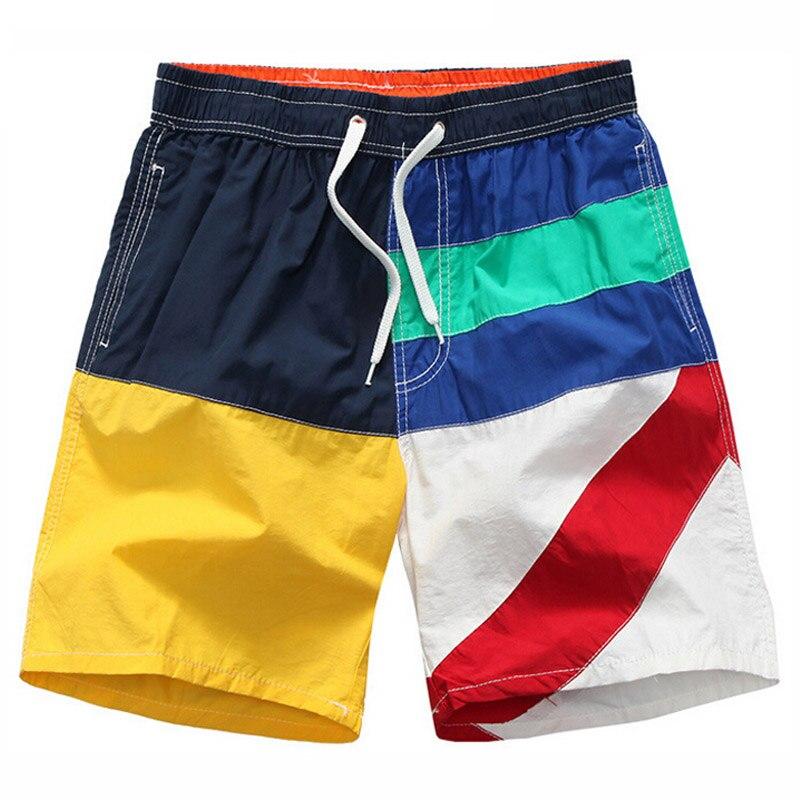 Moda masculina patchwork calções de praia da marca Dos Homens casuais  calções de treino solto boardshorts Dos Homens do algodão confortável  shorts quick- ... dd6139f8c5fbd
