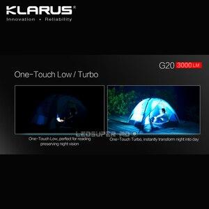 Image 4 - Orijinal KLARUS G20 XHP70 N4 LED 3000 lümen el feneri çift anahtarı Mini ışıldak 26650 pil ile 5000 mAh