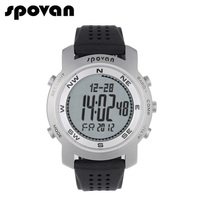 SPOVAN Men Digital Watch For Sports Watches LED Electronic Wristwatch Compass 3D Pedometer 50m Waterproof Bravo