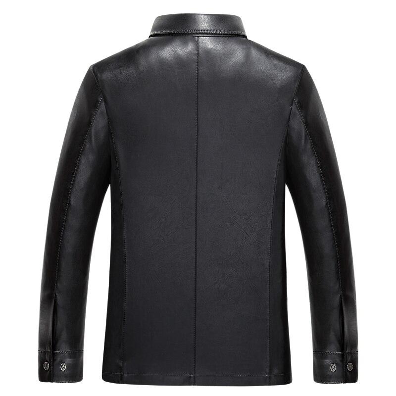 плюс размеры повседневное бизнес для мужчин это кожаные куртки отложным воротником пух воротник демисезонный для мужчин с искусственная кожа на молнии из высококачественной искусственной кожи пальто и пуховики