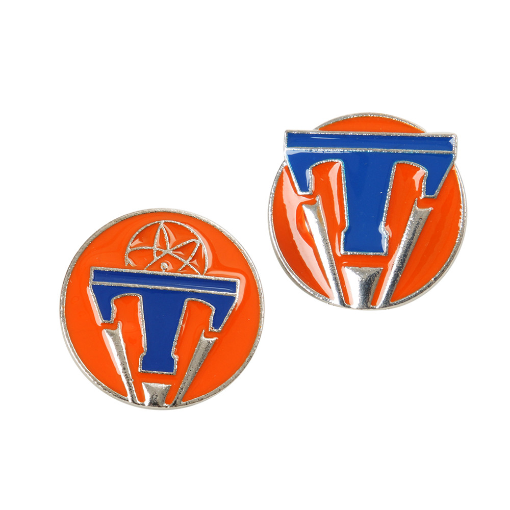 Takerlama 2pcs/set Tomorrowland Maxi Movie Jewelry Round Pins Badges Brooches High Quality Badge Brooch Pin with Enamel Lapel