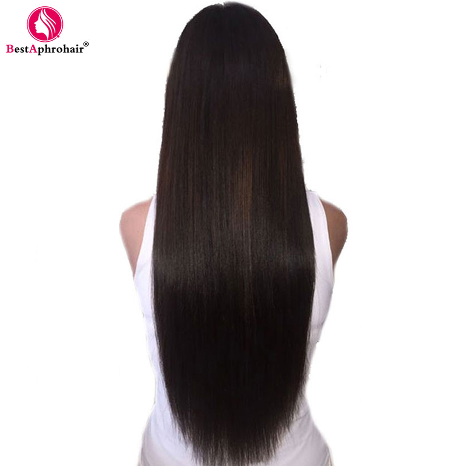 Wig Hair Lace-Frontal Glueless Natural-Color Straight Brazilian 360 with Baby Remy Pre-Plucked