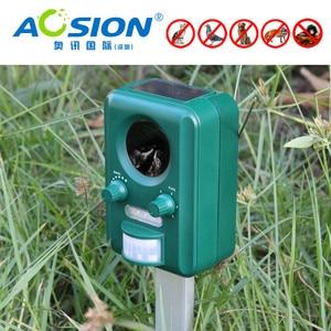 Image 5 - Бесплатная доставка AOSION уличные солнечные ультразвуковые управление животными для сада мигающие лисы летучие мыши птицы собаки репеллент