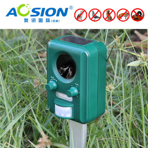 Image 5 - Free Shipping AOSION Outdoor Solar ultrasonic animal control garden use flashing fox Bats Birds Dogs Cats Repeller Repellent