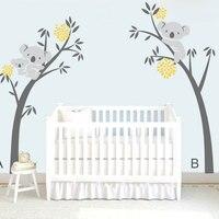 DIY Modern Koala Tree Branches Wall Decal Baby Nursery Wall Decor Vinyl Mural Wall Sticker For Kids Room Bedroom Wall Art Carved
