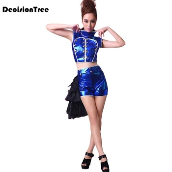2020 hip hop jazz sexy feather dj dance costume singer clothing stage outfit costumes for singers performance clothes set