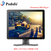 Podofo 15 IPS LCD HD Monitor Mini TV & Computer Display 1080P Color Screen Camera Video Security CCTV DVD Monitor With Speaker