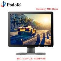 Podofo 15 ips ЖК дисплей HD монитор Мини ТВ и компьютер Дисплей 1080 P Цвет Экран Камера видео безопасности CC ТВ DVD монитор с Динамик