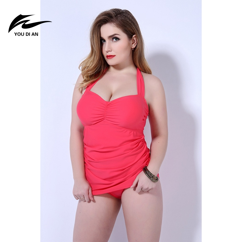 Women's One Piece Suits Fat Plus Size Swimming Suit Sexy Bikinis Swimsuit Black Red 3XL-5XL Swimwear for Women Beachwear 2017 round neck long sleeve 3d coins print sweatshirt