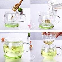 1 Набор, прозрачная кофейная чайная кружка, прозрачная чайная стеклянная чашка, молочный кофе, чайные кружки с фильтром для заварки, кухонный инструмент